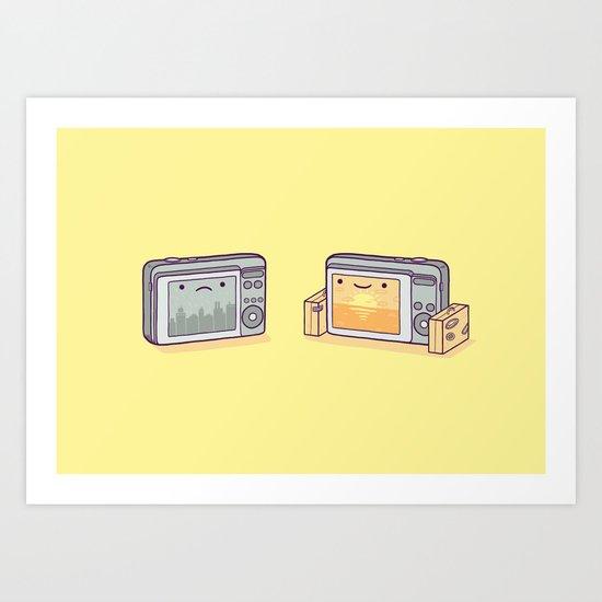 Holiday snaps Art Print