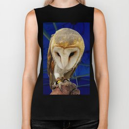 Mr. Owl the Barn Owl Biker Tank