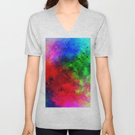Explosive colors Unisex V-Neck