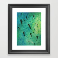 every week is shark week Framed Art Print