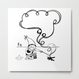 Tea and Marshmallows Metal Print