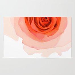 Orange Rose Rug