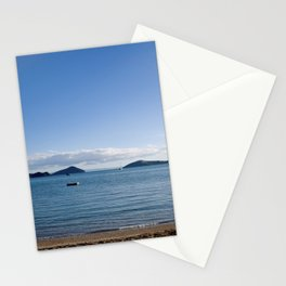 Chilling on the beach in Oamaru Bay, Coromandel Stationery Cards