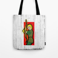 dungeons and dragons Tote Bags featuring DUNGEONS & DRAGONS - HANK by Zorio