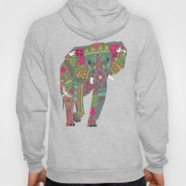 painted elephant chartreuse spot Hoody