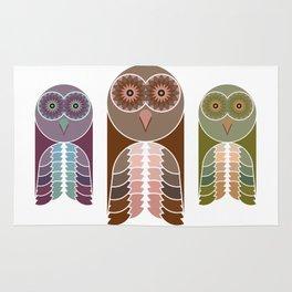 Owl With Kaleidoscope Eyes Rug