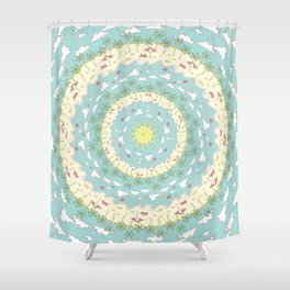 Eternal Beach Mandala Shower Curtain