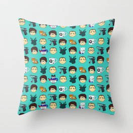 Skyfall chibi pattern 00Q Throw Pillow