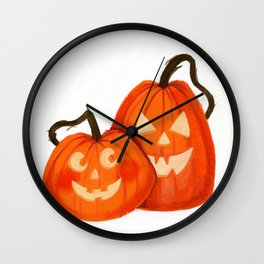 Jack O Lanterns Wall Clock