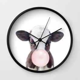 Bubble Gum Baby Cow Wall Clock