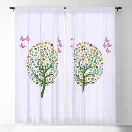 Butterfly Tree Blackout Curtain