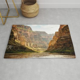 A muddy Colorado River in the Grand Canyon Rug