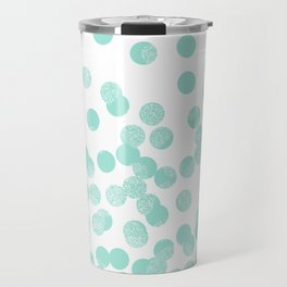 Scattered Glitter Dots in mint, green, pistachio, cool girly cute colors for trendy cell phone case Travel Mug