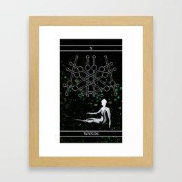 A Tarot of Ink 10 of Wands Framed Art Print