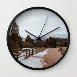 Colorado Pikes Peak Mountain View Wall Clock
