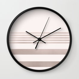 Rose Gold and Pink Stripes Mix Pattern 1 Wall Clock