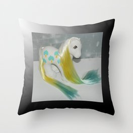 Daddy Apple delight my little pony with gradient dyed hair, vintage g1 Throw Pillow