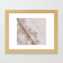 Palm Design - Beige and Brown Framed Art Print