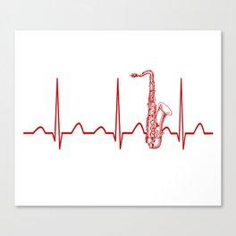 SAXOPHONE HEARTBEAT Canvas Print