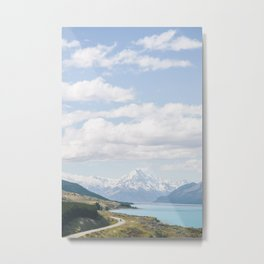 The Road To Mt Cook Metal Print