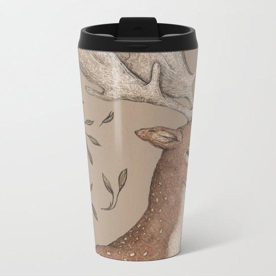 The Fallow Deer and Oats Metal Travel Mug