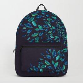 Blue Leaves Mandala Backpack