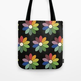 Flower pattern based on James Ward's Chromatic Circle (vintage wash) Tote Bag