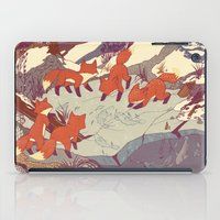 tree iPad Cases featuring Fisher Fox by Teagan White