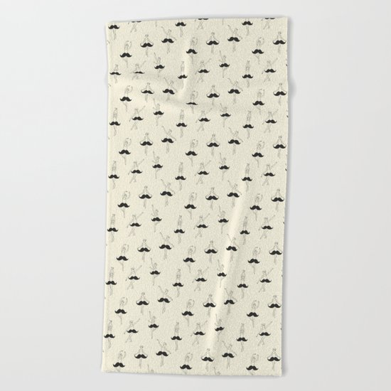 The Ballet of Mustache Beach Towel