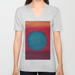 Dive in to Red Unisex V-Neck