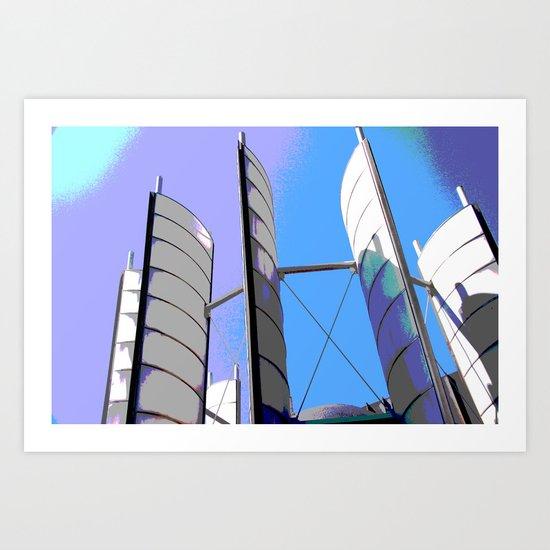 Metal Sails #2 Art Print