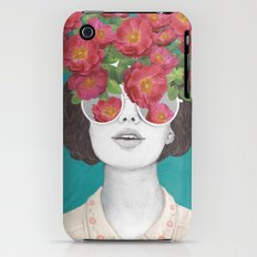 The optimist // rose tinted glasses iPhone (3g, 3gs) Slim Case