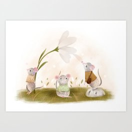 Three Mice Print Art Print