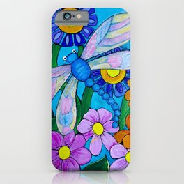 Springtime Series #1 Dragonfly coloured wings iPhone Case