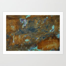 Blue Lagoons in Rusty World Art Print