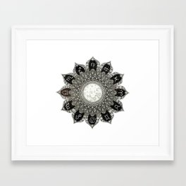 Astrology Signs Mandala Framed Art Print