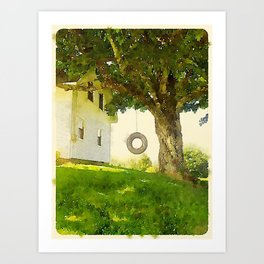 Tire Swing Art Print