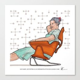Ray Eames by @latroconis Canvas Print