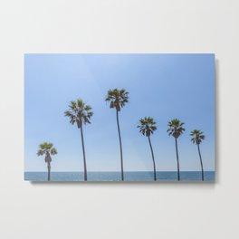 Palm Trees at the beach Metal Print