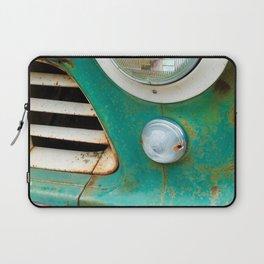 Rusty Turquoise Car Laptop Sleeve