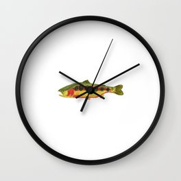 Golden Trout Wall Clock