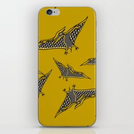 Pterosauria mustard iPhone Skin