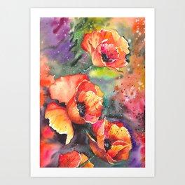 Poppies Flowers Art Print
