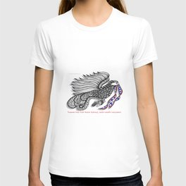 Veterans Happy Holiday and Thank You for Your Service - Zentangle Illustration T-shirt