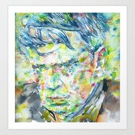 ANTHONY BURGESS - watercolor portrait Art Print
