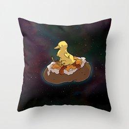Space Duck Throw Pillow