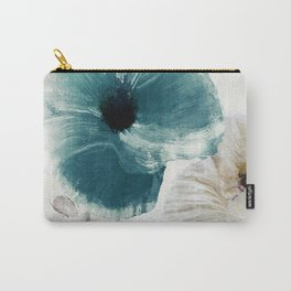 Teal Poppies Carry-All Pouch