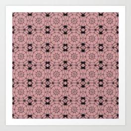 Bridal Rose Pinwheels Art Print