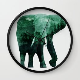 The elephant owns the forest Wall Clock