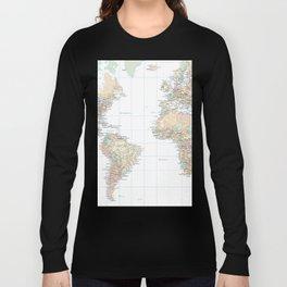 Clear World Map Long Sleeve T-shirt